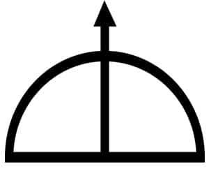 arco y flecha simbolo de oshosi